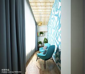热门85平米二居阳台北欧设计效果图