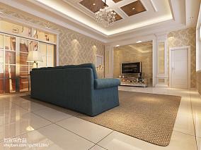 典雅现代风格三居室室内装修图片