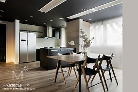 热门93平米三居餐厅简约装修实景图片