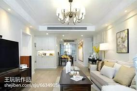 现代简约风格100平米三居室设计效果图