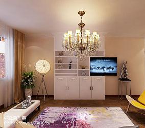 热门面积81平简约二居客厅实景图片大全