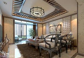 新中式客厅吊顶效果图大全