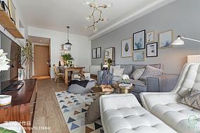 2018精选90平米二居客厅北欧效果图片大全
