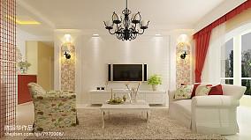 欧式田园风格四居室装修效果图大全