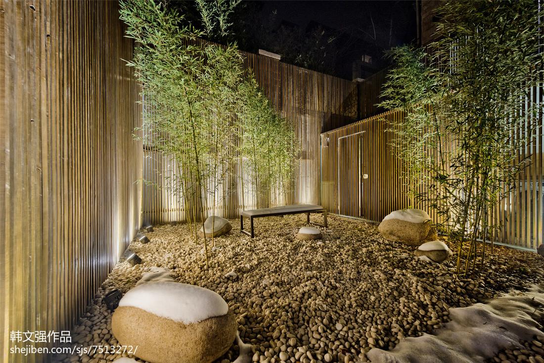 热门120平米现代别墅花园装修设计效果图片大全