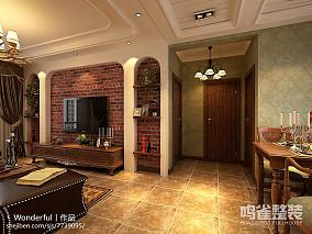 悠雅110平中式三居客厅装修美图