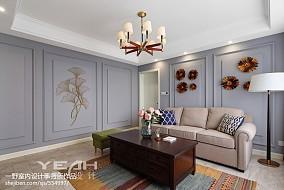 2018面积96平美式三居客厅装修设计效果图片大全