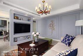 201892平米三居客厅美式装修图