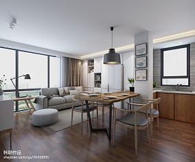 2018面积77平复古二居休闲区装修设计效果图