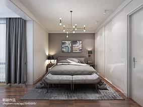 现代欧式风格两室两厅装修效果图片