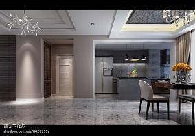 2018精选92平米三居餐厅简约装修设计效果图