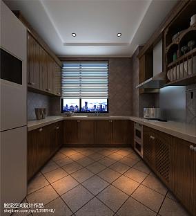 热门面积100平美式三居厨房装修效果图片欣赏