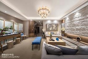 2018中式客厅装修实景图片大全