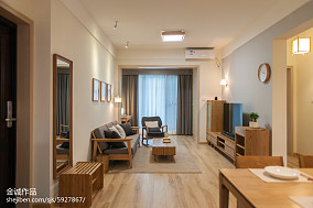 热门70平米二居客厅日式效果图片