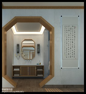 日式复式楼餐厅吊顶装修设计