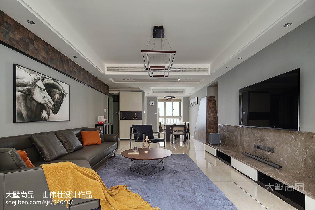 精选面积100平简约三居客厅装修图片大全