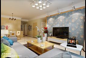 2018精选面积83平简约二居客厅装修欣赏图片大全