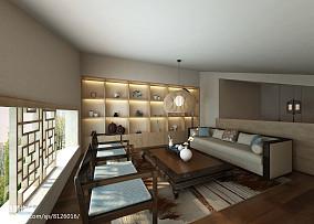 热门144平米中式复式书房装饰图片欣赏