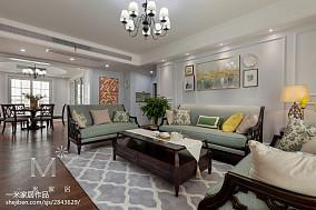 190m²风情美式客厅左右沙发设计图