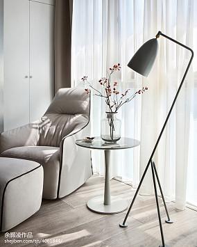 灰色现代卧室落地灯设计图