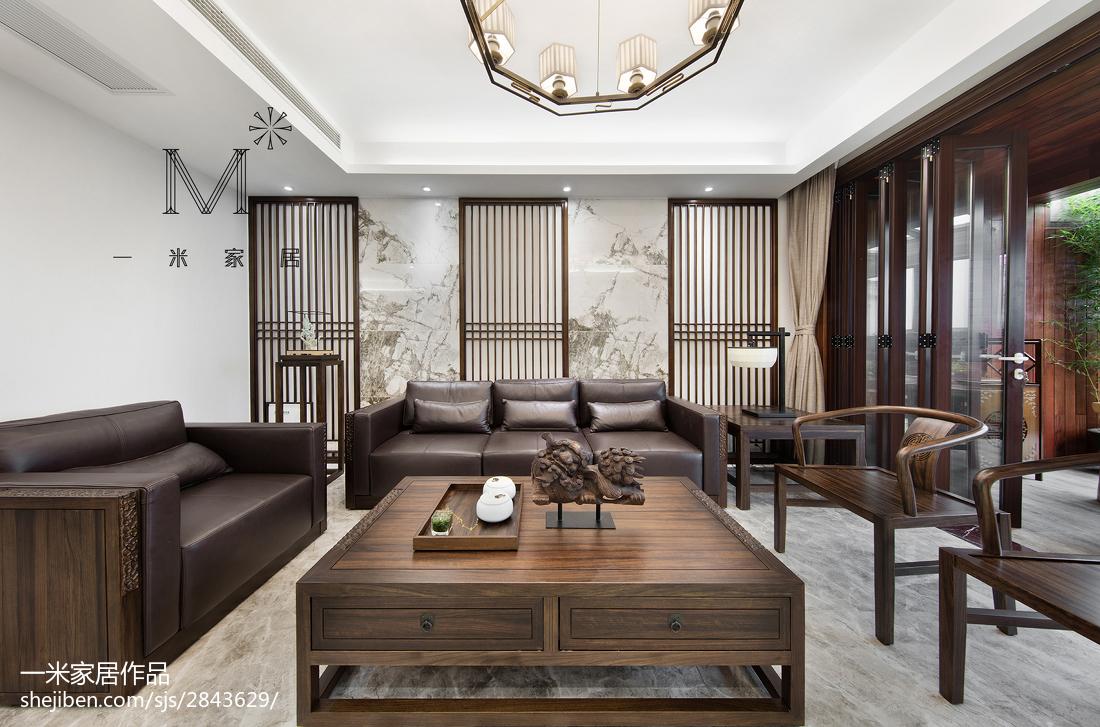 165m²新中式客厅设计图