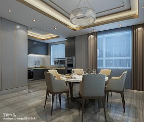 美式现代开放式U型厨房