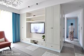 2018精选83平米二居客厅美式装修效果图片大全