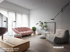 2018精选120平米四居客厅北欧装修设计效果图片