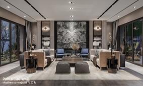 2018精选面积111平别墅客厅中式装修图