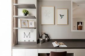 热门103平米三居书房现代设计效果图