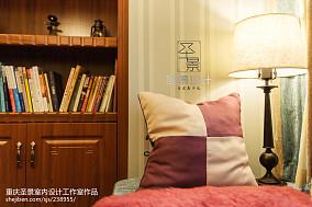 热门105平米三居书房新古典装修实景图片