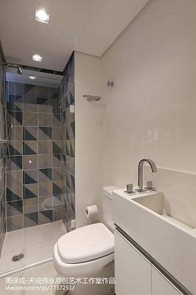 热门75平米北欧小户型卫生间装饰图片
