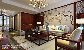 热门面积103平中式三居客厅装修欣赏图片