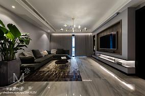 热门面积120平现代四居客厅欣赏图