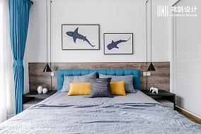 精美面积79平北欧二居卧室装修实景图片