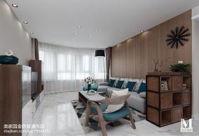 热门96平方三居客厅北欧装修设计效果图片