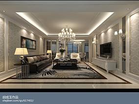 现代简约设计客厅地板砖图片