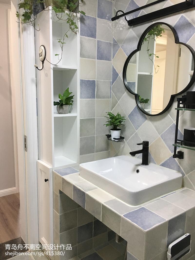 美式风格三居卫浴设计图片