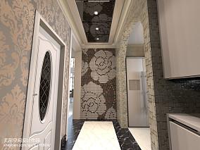 中式浴室墙画效果图