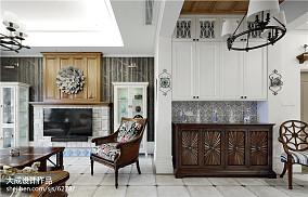 复式客厅美式效果图片欣赏