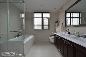精美面积114平别墅卫生间混搭效果图片