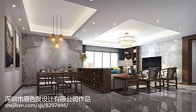 2018中式四居客厅装修设计效果图片