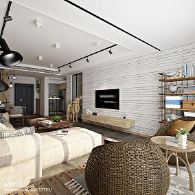 2018精选130平米复式客厅装修效果图