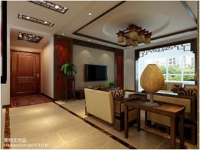 中式家装客厅效果图大全2013图片