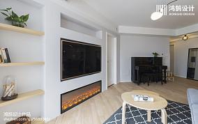 精选面积109平北欧三居客厅装修效果图片