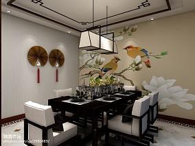 2018面积118平中式四居餐厅欣赏图片