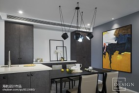 精选93平米三居餐厅现代效果图片大全