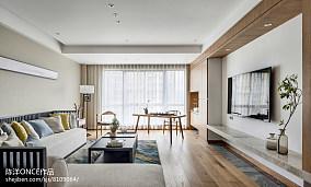 清新现代三居背景墙设计图片