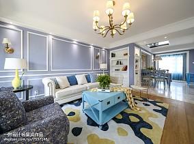 美式样板房客厅吊灯设计图