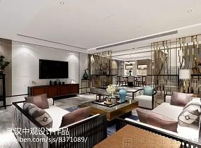 2018141平米中式别墅客厅欣赏图片大全